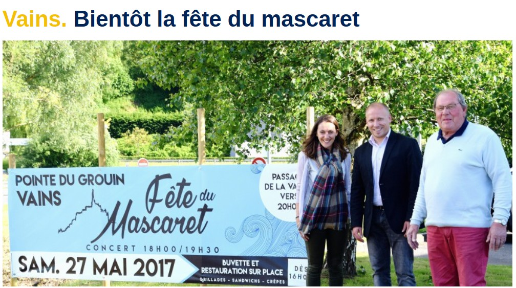 Annonce mascaret 27 05 2017