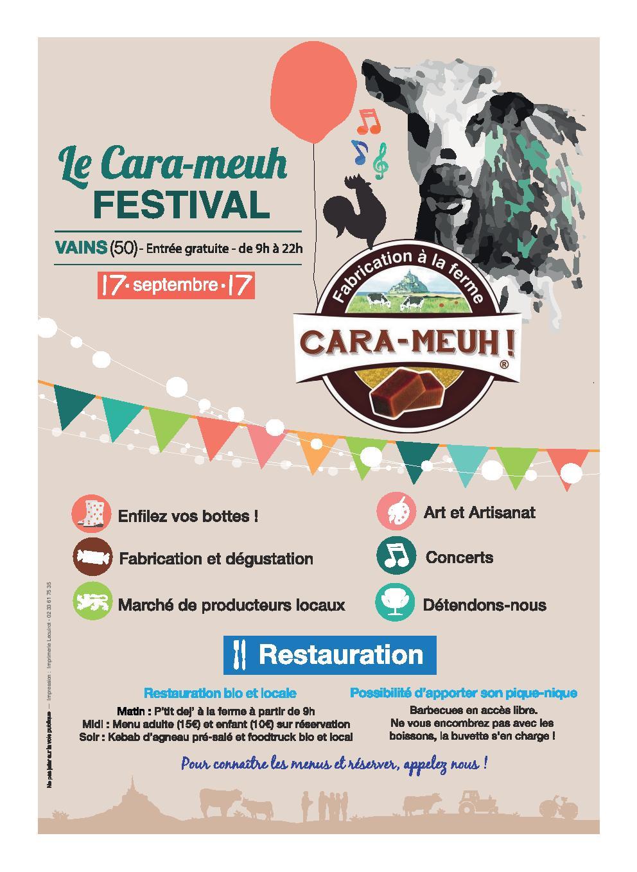 Flyer recto carameuh festival